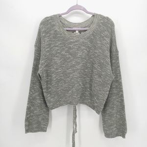LC Lauren Conrad Heathered Lace Up Back Sweater
